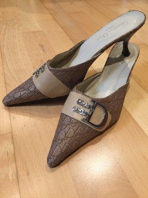 Christian Dior Heel Pantolettes beige-camel