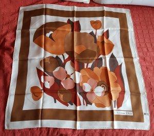 DIOR - Seidentuch in braun/orange Tönen