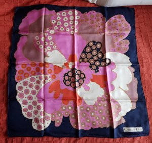 Christian Dior Silk Cloth multicolored