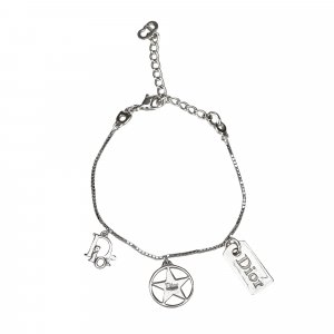 Dior Silver Toned Charm Bracelet