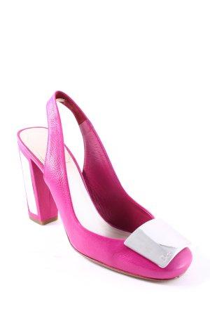 Dior Slingback-Pumps pink-silberfarben Elegant