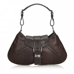Dior Snakeskin Leather Shoulder Bag