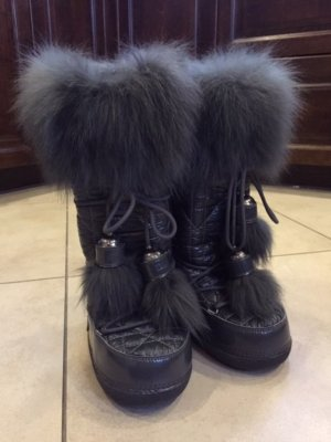 Dior Botas de nieve gris oscuro