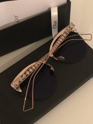 Christian Dior Gafas color rosa dorado-azul oscuro