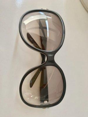 Dior Occhiale da sole ovale nero-argento