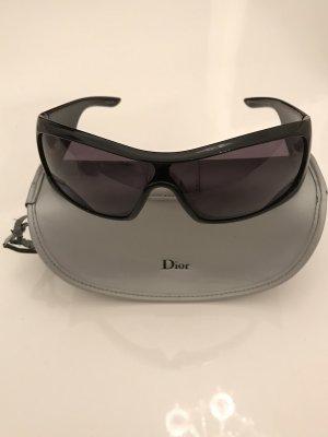 Christian Dior Occhiale da sole spigoloso nero-argento