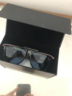 Christian Dior Ovale zonnebril khaki-donkerblauw
