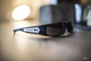 Christian Dior Lunettes de soleil angulaires noir-blanc