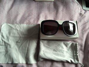 Dior Sonnenbrille in schwarz/rot
