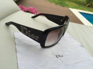 Dior Sonnenbrille Sommer Brille Sonnenschutz schwarz Silber