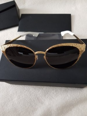 Christian Dior Sunglasses gold-colored metal