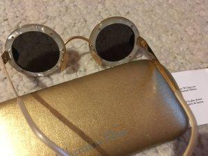 Christian Dior Gafas de sol redondas camel oro verdadero