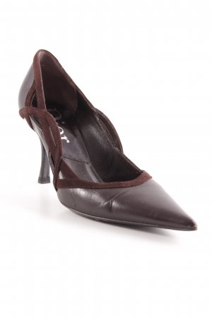 Dior Spitz-Pumps dunkelbraun Business-Look