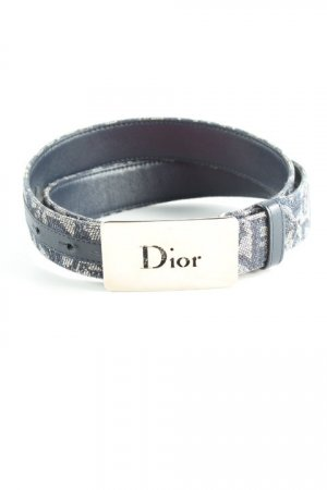 Dior Fabric Belt dark blue monogram pattern casual look