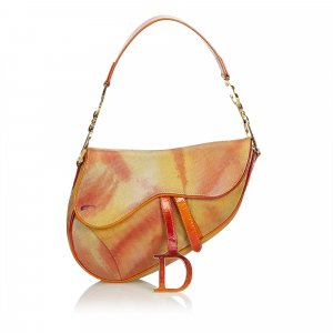 Dior Tie Dye Embossed Suede Saddle Bag