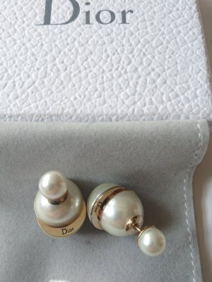 Christian Dior Pearl Earring gold-colored-natural white