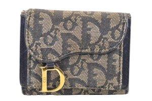 Dior Wallet blue textile fiber