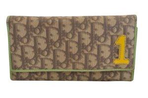 Dior Wallet brown textile fiber