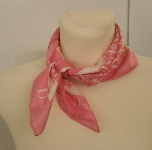 Dior Foulard en soie blanc-rose soie