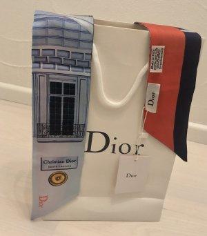 Dior Foulard en soie rouge-bleu soie
