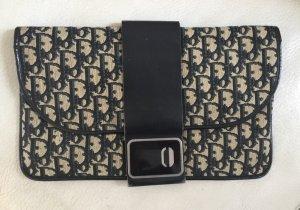 DIOR Vintage Clutch Tasche Stoff Monogramm  braun grau