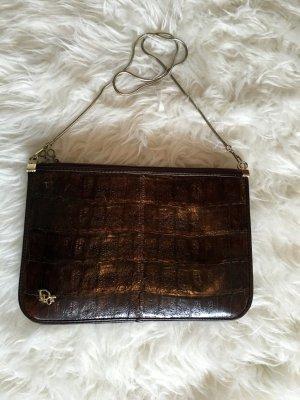 Dior Vintage Handtasche Kroko Leder goldene Hardware