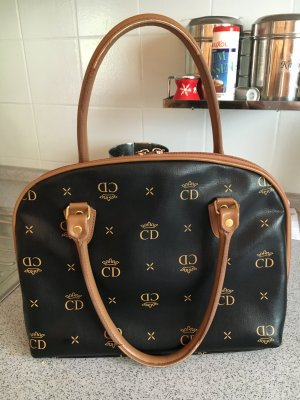 Christian Dior Beugeltas taupe-camel Leer