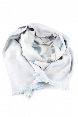 Dior Woolen Scarf light grey business style