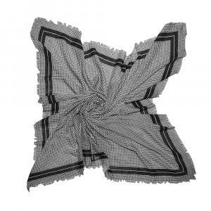 Dior Kerchief black-white wool