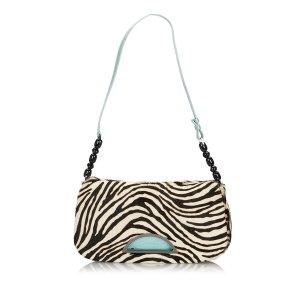 Dior Zebra Print Ponyhair Malice Shoulder Bag