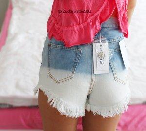 Dip Dye High Waist Hot Pants 34/XS