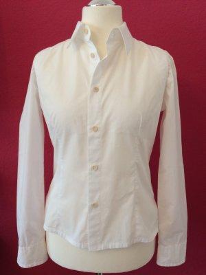 Bikkembergs Long Sleeve Blouse white cotton