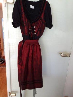 Turi Landhaus Dirndl nero-rosso scuro