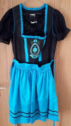 Vestido Dirndl negro-turquesa