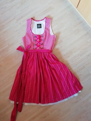 Hammerschmid Vestido Dirndl blanco-rosa