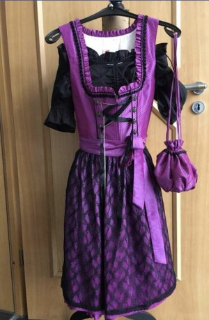 Dirndl lilac-black
