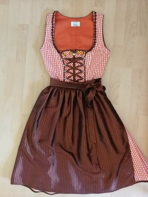 Spieht & Wensky Dirndl marrone-arancione scuro