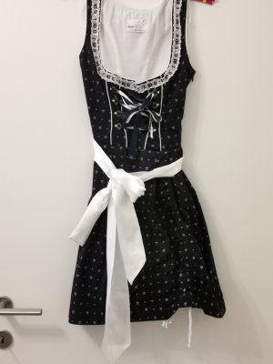 Dirndl white-dark blue