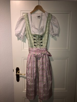 Dirndl lime-green-light pink