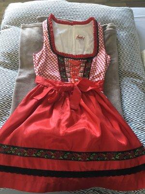 Fuchs Trachtenmoden Vestido Dirndl rojo
