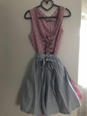 Almsach Robe à manches courtes rose clair-bleu clair