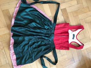 Berwin & Wolff Dirndl rosso mattone-verde scuro