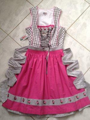 Alphorn Mini Abito rosa-bianco
