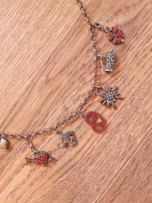 Chain silver-colored-red