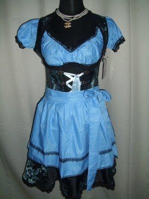 Dirndl black-neon blue mixture fibre