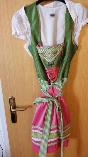 Delantal folclórico rosa-verde