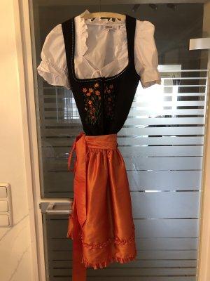 Feeling Vestido Dirndl negro-naranja