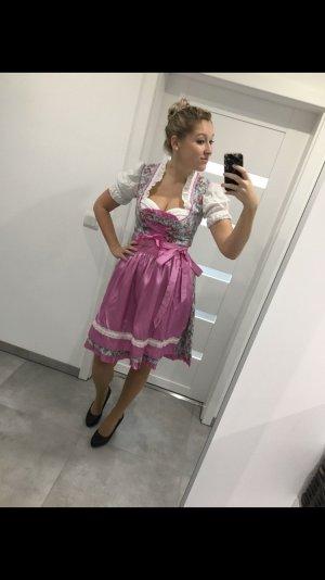 MarJo Vestido Dirndl rosa-azul neón