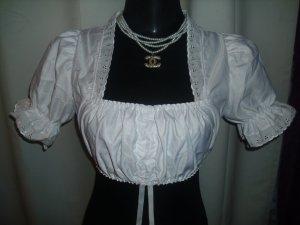 Blouse bavaroise blanc polyester