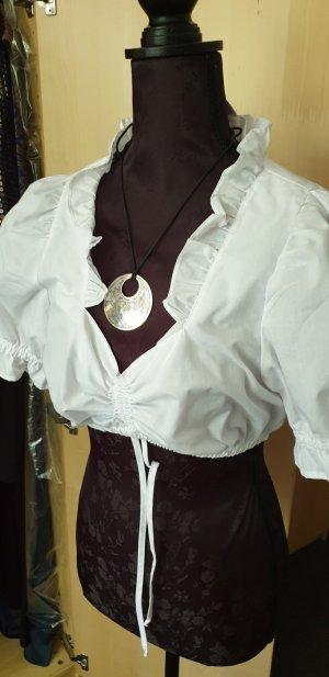 Dirndl-bluse in weiß